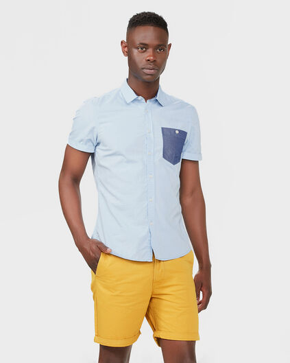 HEREN SLIM FIT CHINO SHORT Mosterdgeel