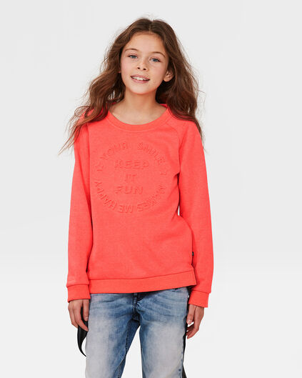 MEISJES KEEP IT FUN SWEATER Koraalroze