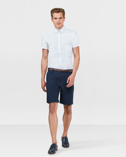 HEREN SLIM FIT CHINO SHORT Marineblauw