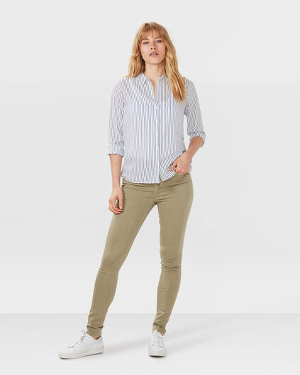 DAMES HIGH RISE SKINNY FIT JEANS Olijfgroen