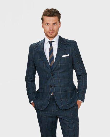 HEREN REGULAR FIT BLAZER BELFAST Blauw