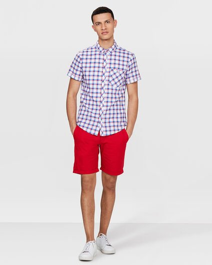HEREN RELAXED FIT CHINO SHORT Rood