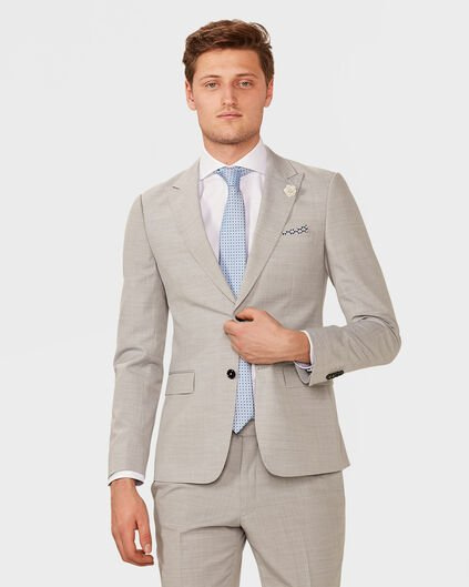 HEREN ULTRA SLIM FIT BLAZER WHALES Lichtgrijs