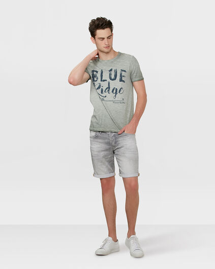 HEREN REGULAR STRAIGHT JOG DENIM SHORT Lichtgrijs