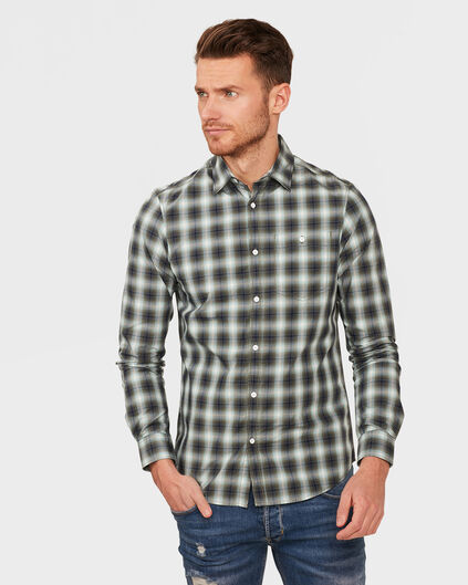 HEREN SLIM FIT CHECKED OVERHEMD Groen