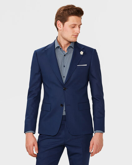 HEREN ULTRA SLIM FIT BLAZER WYATT Felblauw