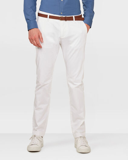 HEREN SLIM FIT CHINO Wit