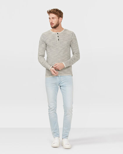 HEREN SKINNY TAPERED JOG DENIM Lichtblauw