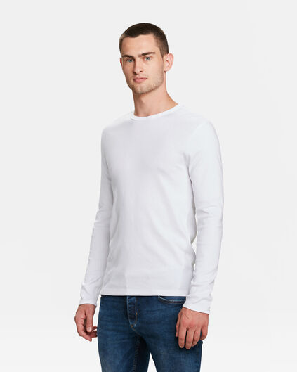 HEREN R-NECK SHIRT Wit
