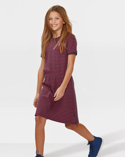 MEISJES STRIPED DRESS Donkerblauw