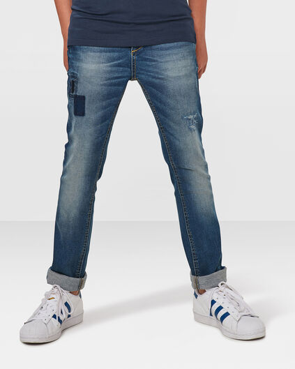 JONGENS SUPER SKINNY POWER STRETCH JEANS Blauw