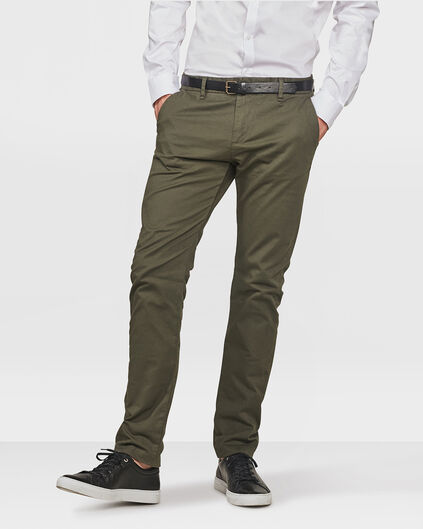 HEREN SLIM FIT CHINO Groen