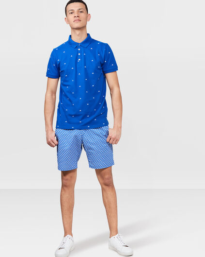 HEREN PRINTED SHORTS Blauw