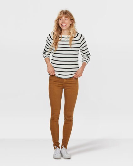 DAMES HIGH RISE SKINNY JEANS Geel