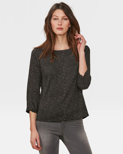 DAMES PRINTED BLOUSE Zwart