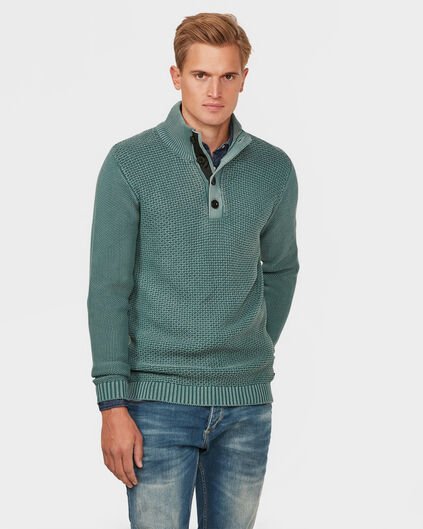 HEREN PATTERN KNIT TRUI Groen