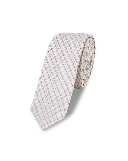 HEREN CHECKED PRINT TIE All-over print