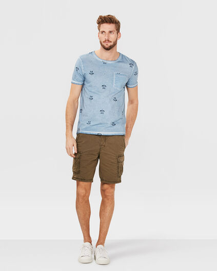 HEREN RELAXED CARGO SHORT Legergroen