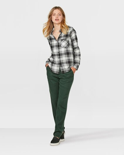 DAMES RELAXED FIT LYOCELL CHINO Mosgroen