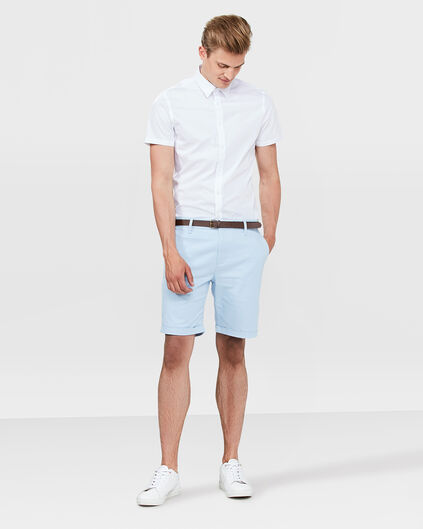 HEREN SLIM FIT CHINO SHORT Pastelblauw