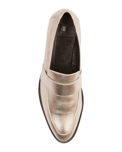 DAMES METALLIC LOAFER Zilver