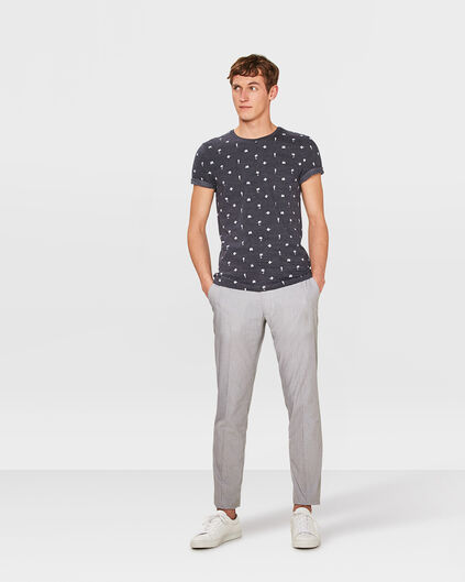 HEREN SLIM FIT PANTALON MILO Grijs