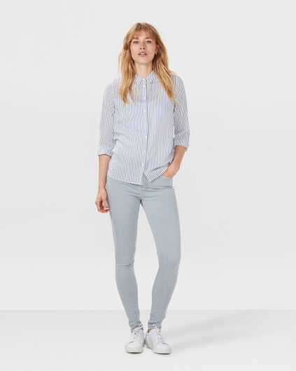 DAMES HIGH RISE SKINNY FIT JEANS Lichtgrijs
