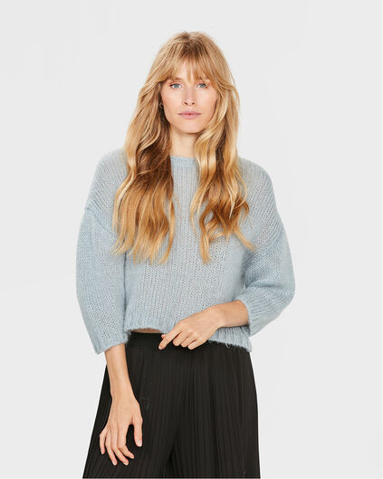 DAMES CROPPED STER TRUI Lichtblauw