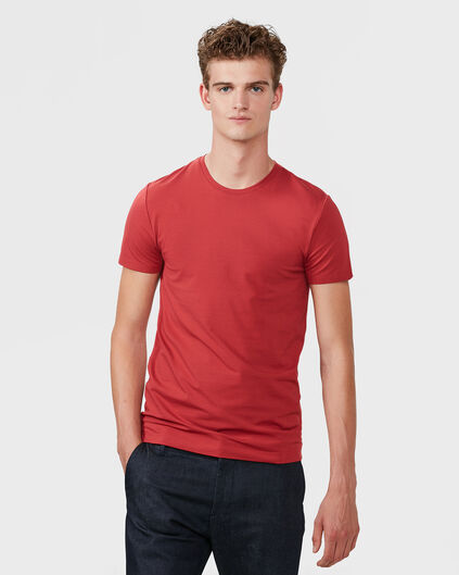 HEREN R-NECK T-SHIRT Rood