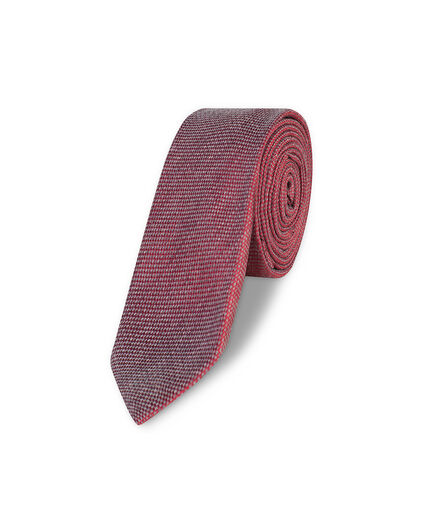HEREN WOVEN PATTERN TIE Bordeauxrood