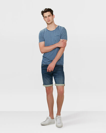 HEREN REGULAR STRAIGHT JOG DENIM SHORT Donkerblauw