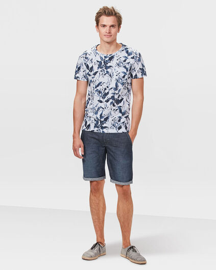 HEREN DENIM CHINO SHORT Donkerblauw
