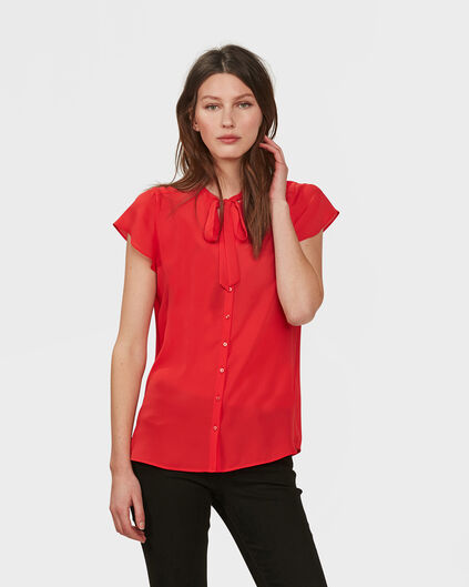DAMES TIE BLOUSE Felrood
