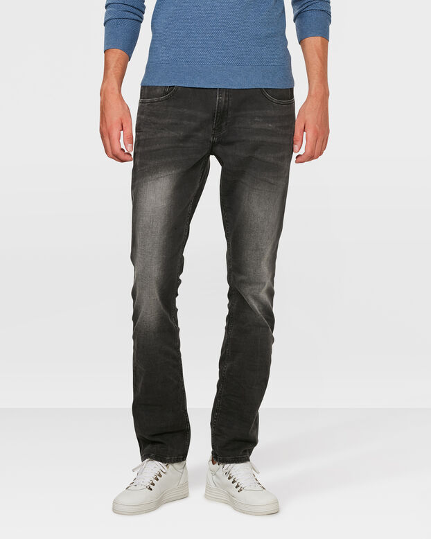 HEREN REGULAIR STRAIGHT JOG DENIM Zwart