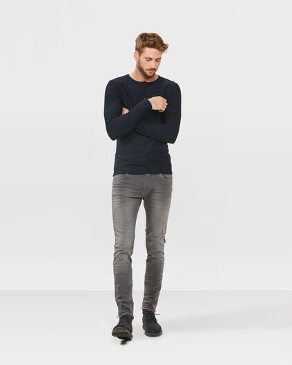 HEREN SKINNY TAPERED SUPER STRETCH JEANS Lichtgrijs gemeleerd