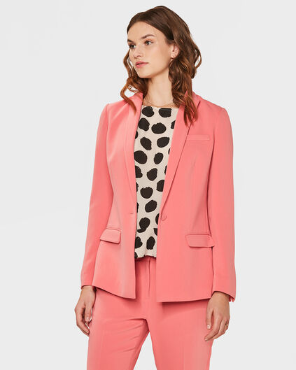 DAMES REGULAR FIT BLAZER Koraalroze