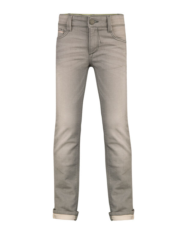 JONGENS SKINNY FIT COATED JOG DENIM Lichtgrijs