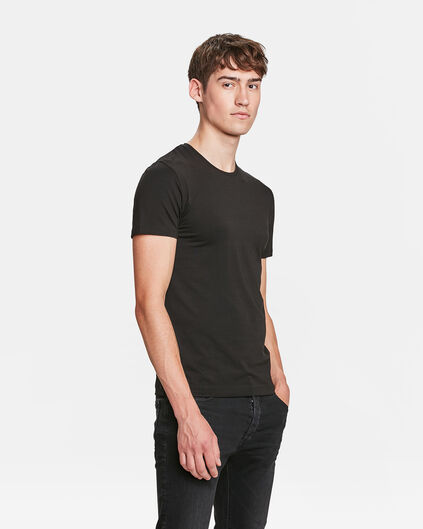 HEREN R-NECK T-SHIRT Zwart