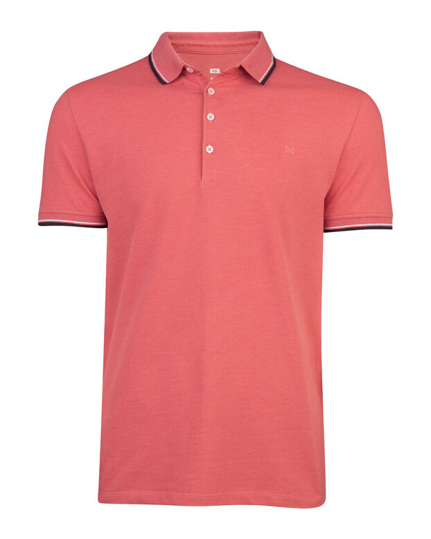 HEREN STRETCH POLOSHIRT Lichtrood