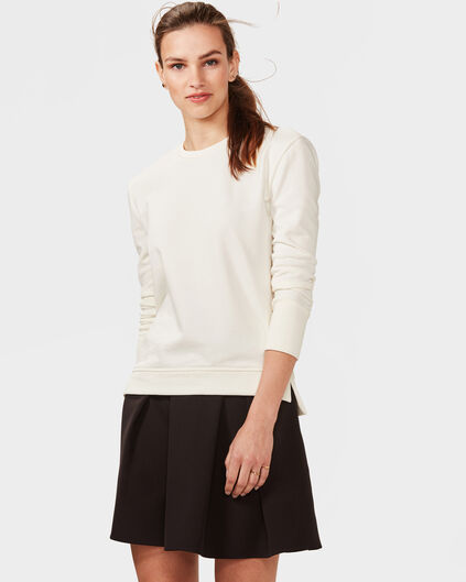 DAMES SOLID SWEATER Wit