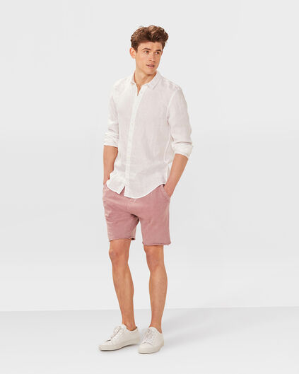 HEREN GARMENT DYED SWEATSHORT Oudroze