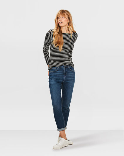 DAMES RELAXED TAPERED GIRLFRIEND JEANS Blauw