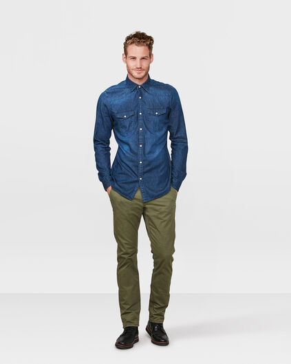 HEREN REGULAR FIT CASUAL CHINO Legergroen
