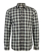 HEREN SLIM FIT CHECKED OVERHEMD_HEREN SLIM FIT CHECKED OVERHEMD, Groen