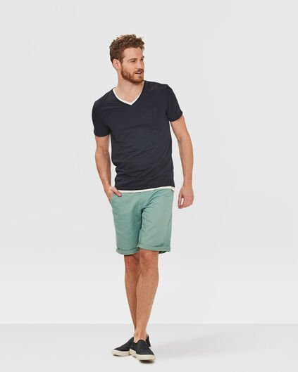 HEREN REGULAR FIT CHINO SHORT Mintgroen