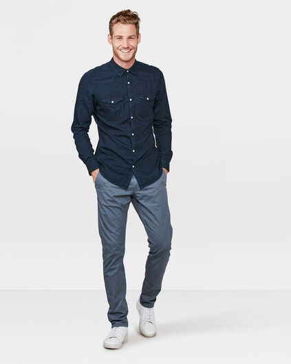HEREN REGULAR FIT CASUAL CHINO Donkergrijs