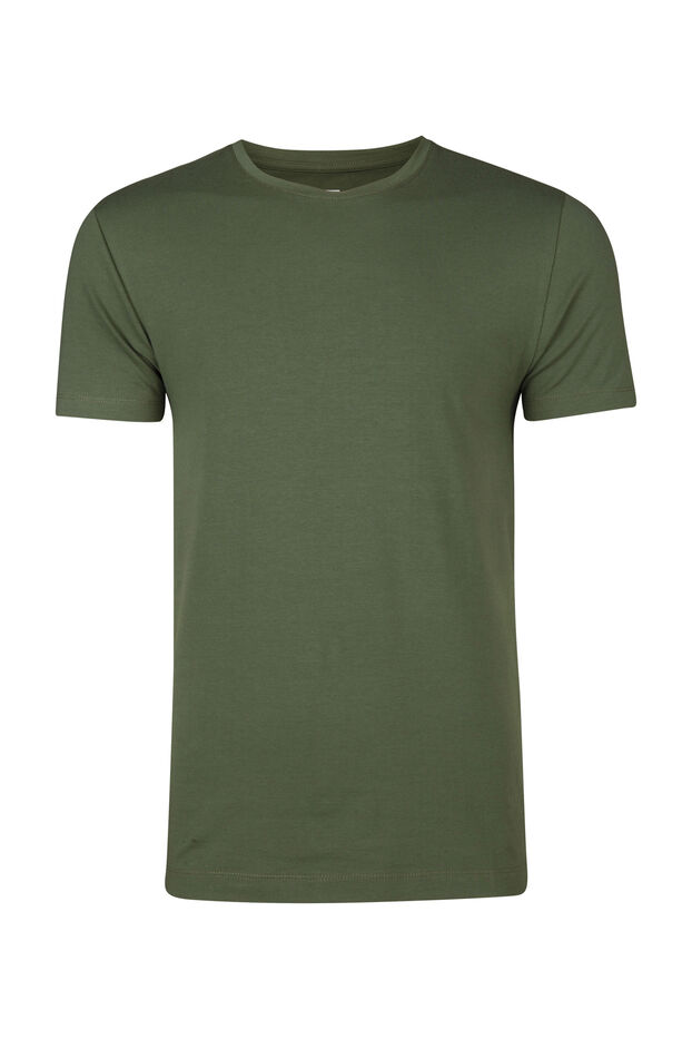 HEREN R-NECK T-SHIRT Lichtgroen