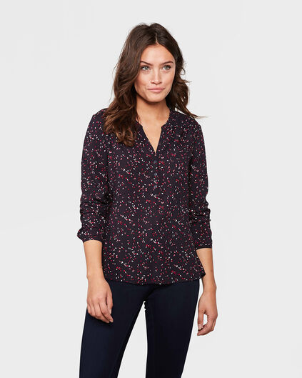 DAMES SINGLE PATCH POCKET BLOUSE Donkerblauw