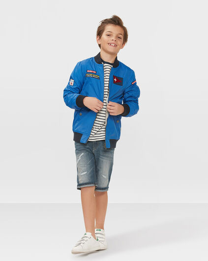 JONGENS BAD BOYS REVERSIBLE BOMBER JACKET Blauw