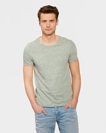 HEREN ONE-POCKET MELANGE  T-SHIRT Groen